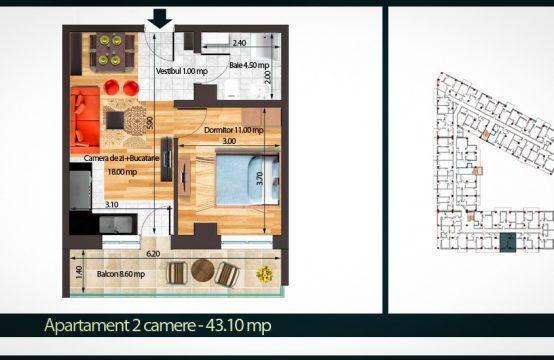 Apartament 2 Camere A 42