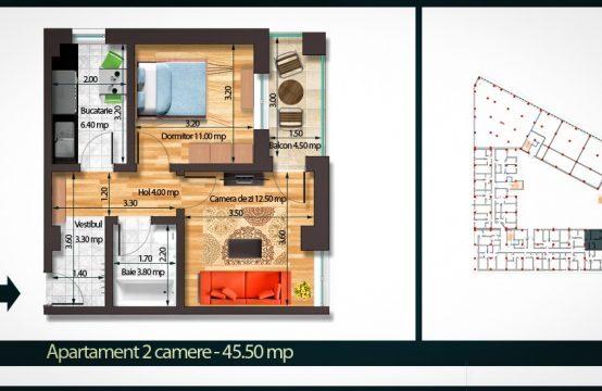 Apartament 2 Camere A 43