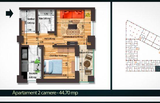 Apartament 2 Camere A 44