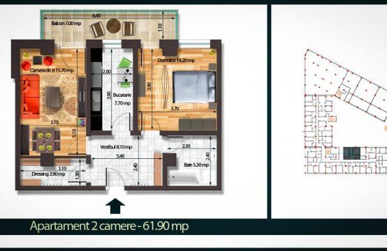 Apartament 2 Camere A 61