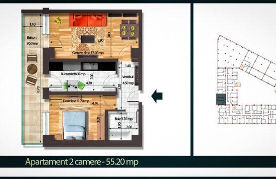 Apartament 2 Camere B 55