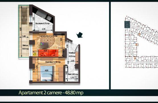 Apartament 2 Camere C 48