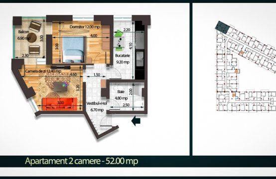 Apartament 2 Camere C 52