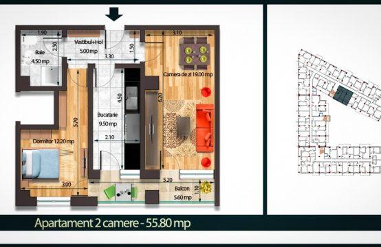 Apartament 2 Camere C 55