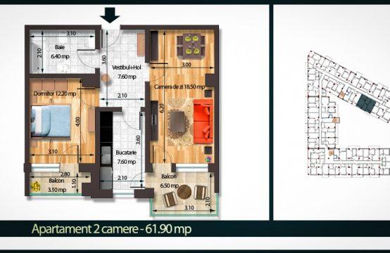 Apartament 2 Camere C 61