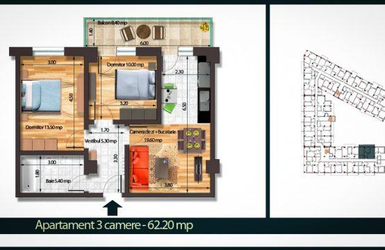 Apartament 3 Camere A 62
