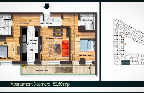 Apartament 3 Camere A 82