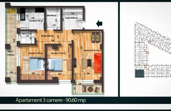 Apartament 3 Camere A 90