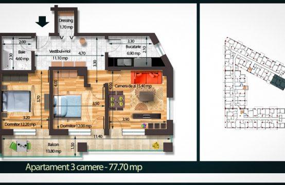 Apartament 3 Camere C 77