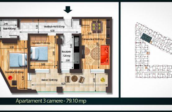 Apartament 3 Camere C 79