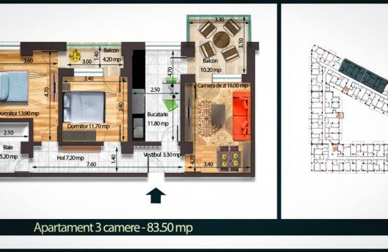 Apartament 3 Camere C 83
