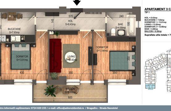 Apartament Bragadiru 01 Bloc 4